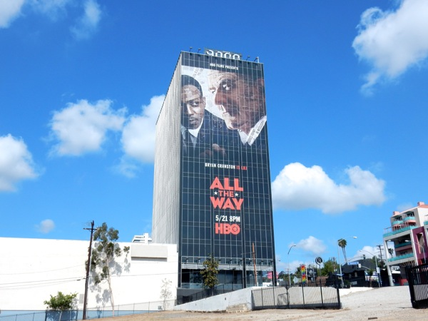 Giant All The Way HBO film billboard Sunset Strip