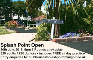 Splash Point Mini Golf Open competition in Worthing