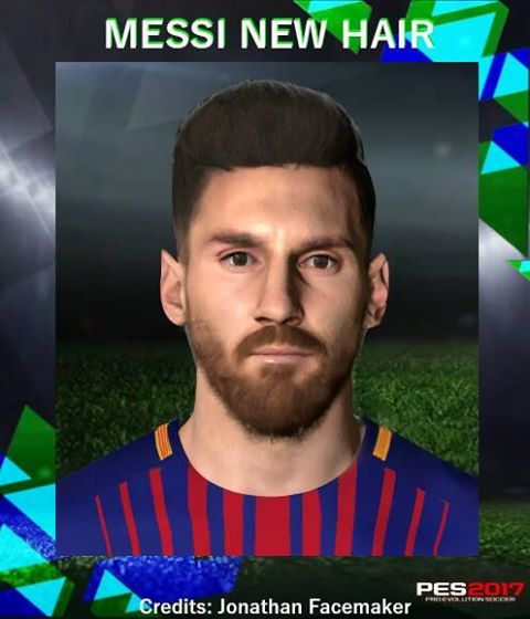PES 2017 L. Messi New Hair by Messipradeep