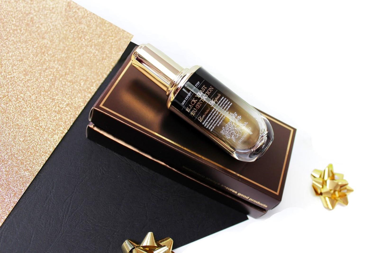 Swanicoco, Black Yeast Fermentation Luminous Ampoule - Odżywcza ampułka wygładzająca, silnie rozświetlająca cerę