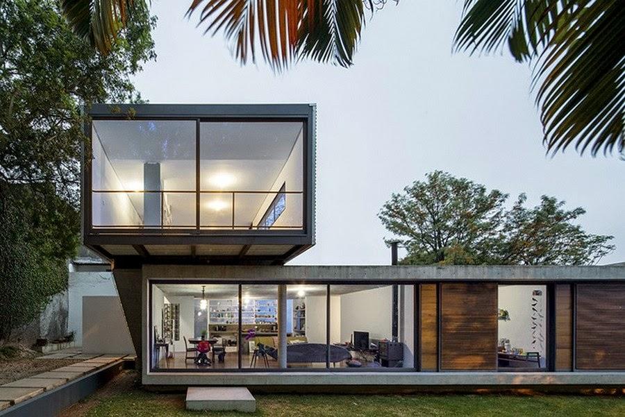 Hogares frescos casa en brasil con dise o minimalista y for Casa minimalista 4 dormitorios
