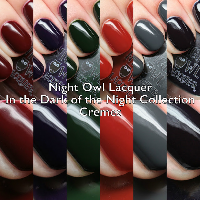 Night Owl Lacquer In the Dark of the Night Collection Cremes