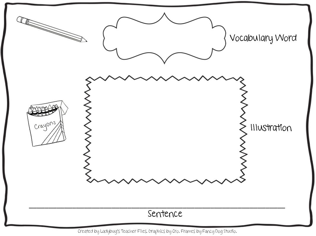 A New Vocabulary Graphic Organizer Ladybug S Teacher Files