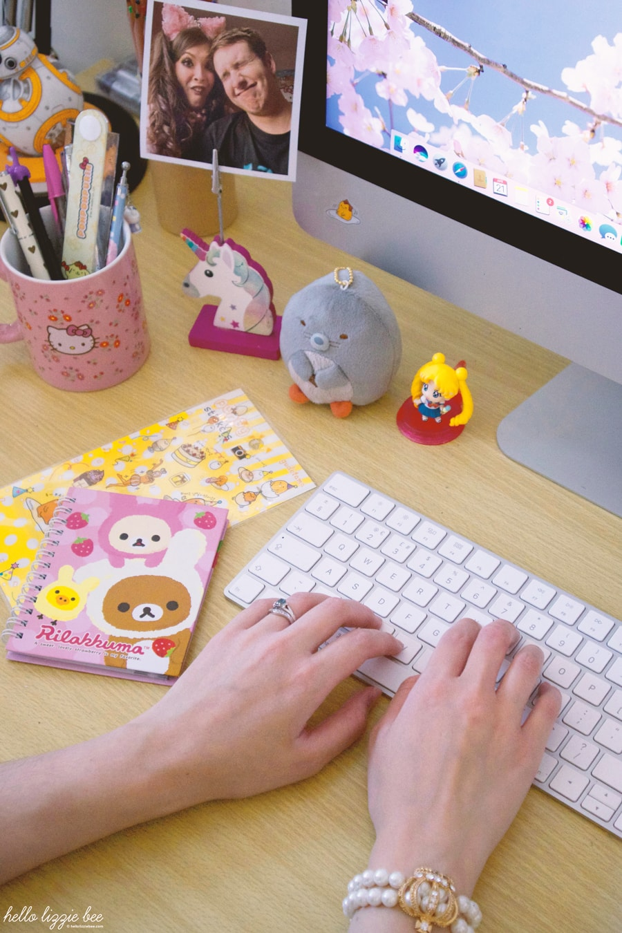 kawaii desk accessories