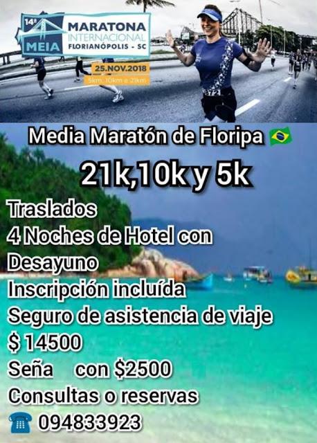 Viaje a la Media Maratón de Florianópolis (BRA) con Info Deportes (25/nov/2018)