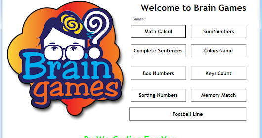 Brain Games Source Code - We Coding For You