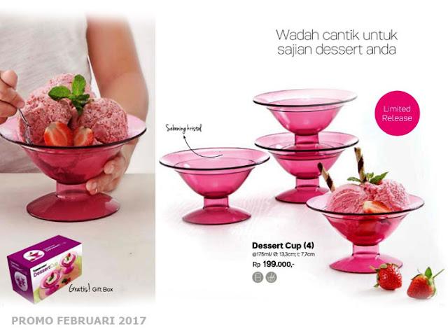 Dessert Cup 4 Tupperware Promo Februari 2017