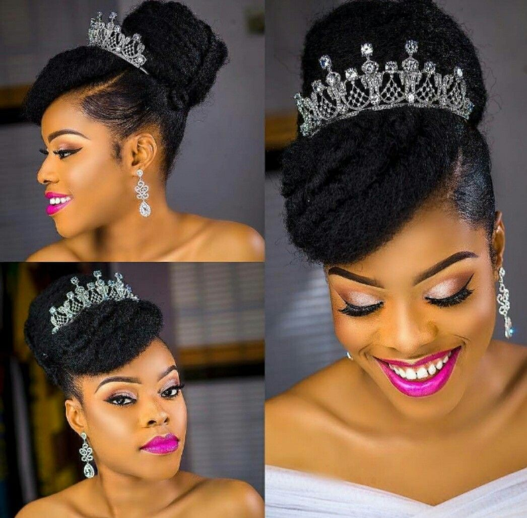 Hairstyles For Weddings Bridesmaid African American: Flawless Natural Hair Brides 2018