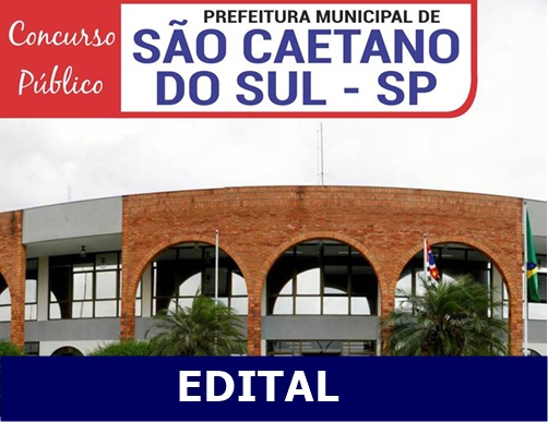Edital Prefeitura de São Caetano do Sul {SP} concurso 2018