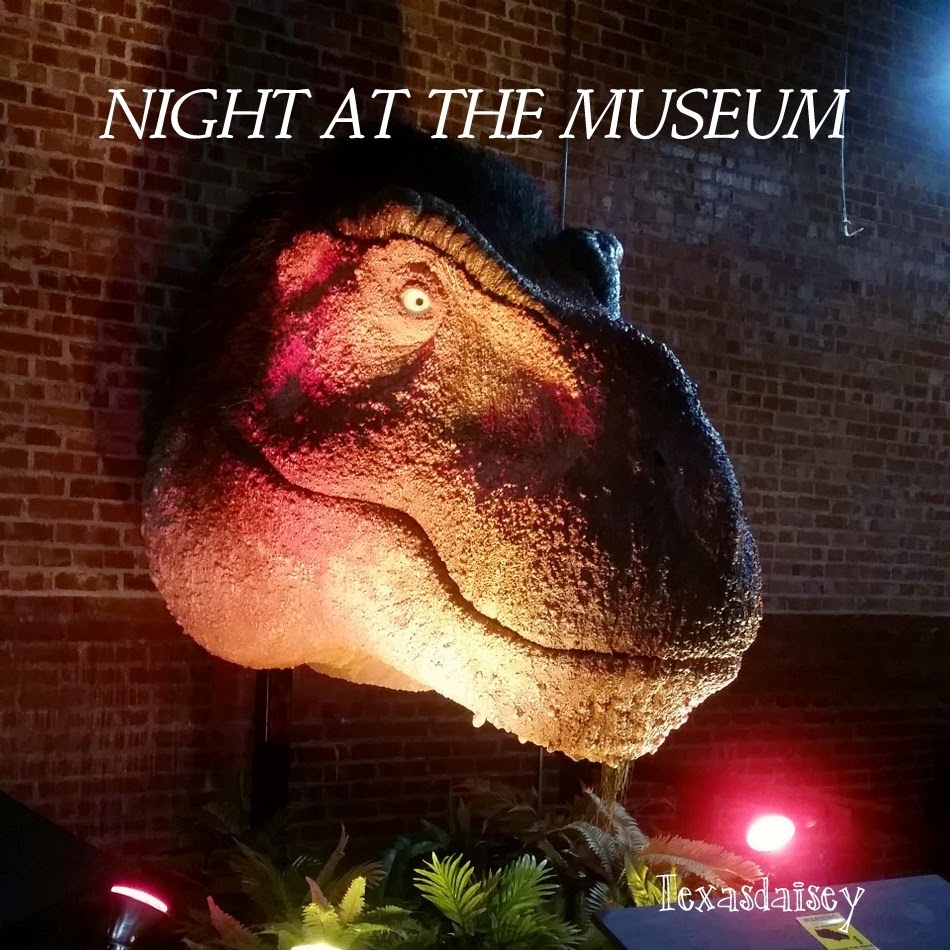 Our Night At The Museum Whiteside Museum of Natural History in Seymour, Texas