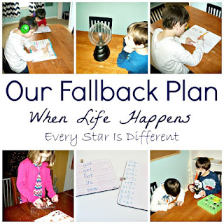 A fall back plan for when life happens as a homeschooling family