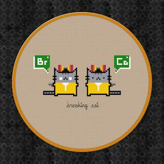 Breaking Cat - Breaking Bad - Cross Stitch PDF Pattern Download