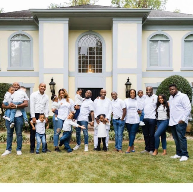 Lovely Photos of Adeleke with his Children and Grandchildren (Photos)