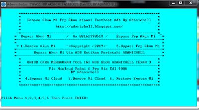 Fix Mi cloud Dan Frp Akun Redmi 6 Pro