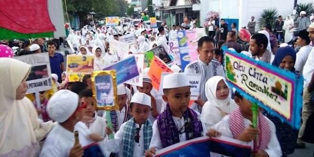 Perayaan menyambut datangnya tahun baru Islam, di Indramayu