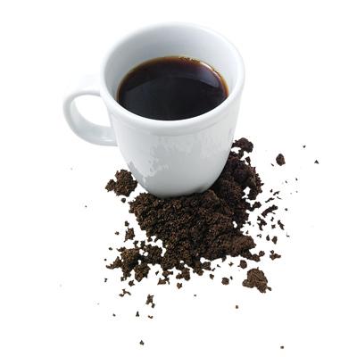 Serbuk kopi boleh dimakan kerana mengandungi bahan anti-oksida yg tinggi baik utk kesihatan