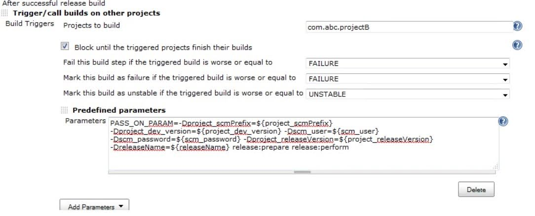 Trigger Release Builds on Other Projects Using Jenkins