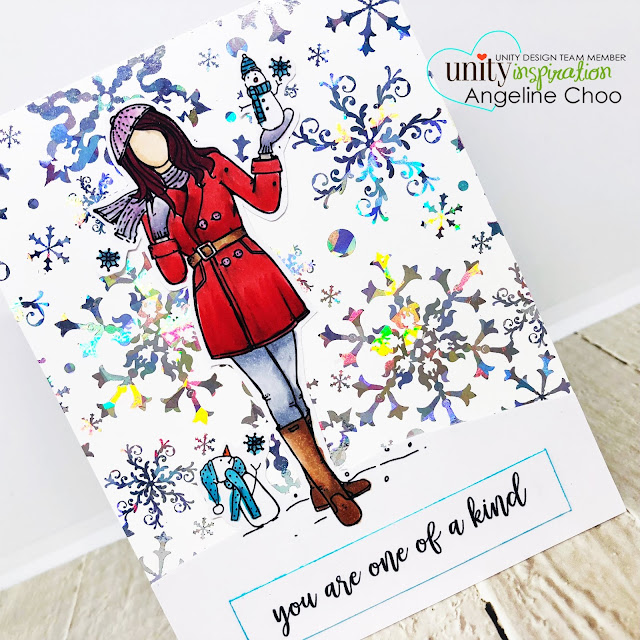 ScrappyScrappy: July Blog Hop with Unity Stamp - Gina K foil-mates blizzard background #scrappyscrappy #unitystampco #tyoutube #quicktipvideo #card #cardmaking #craft #crafting #christmas #christmascard #ginakdesigns #thermoweb #foilmates #decofoil #heidiswapp #miniminc #copicmarkers