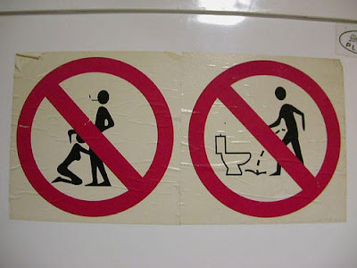 Funny Toilet Restricted sign