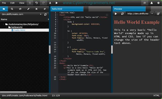 ShiftEdit online IDE for JS