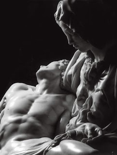 Close up Pietà do Michelangelo