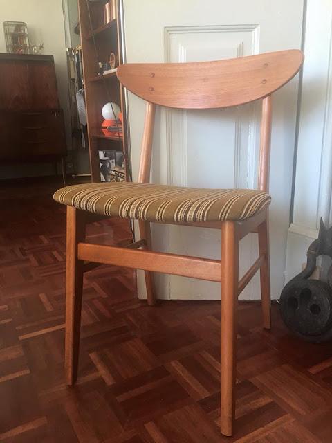 cadeira, nórdica, teca, vintage