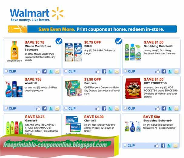 Walmart printable coupons august 2018