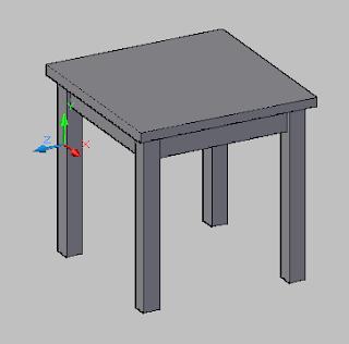 10 Hari Belajar Autocad 3D #4 - Latihan membuat Side Table