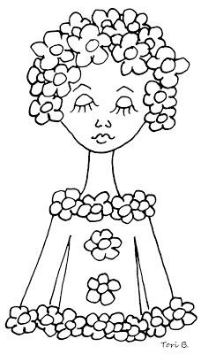 Free Crudoodle Digital Stamp, Fleur by Tori Beveridge