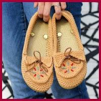 Mocasines a crochet