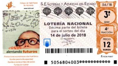 """Loteria nacional, Sorteo 56 """"Especial de julio"""" - sábado 14 de julio de 2018"""