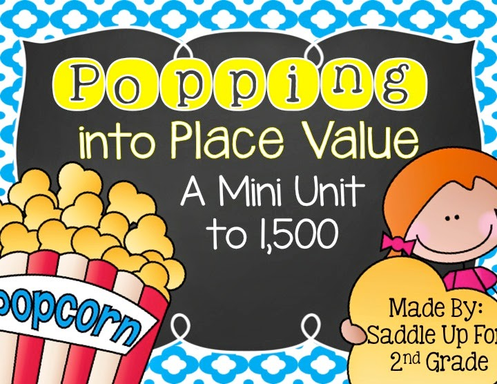 Popping into Place Value - Saddle up for Second Grade - place value unit