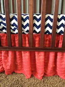 Coral Ruffle Crib Skirs