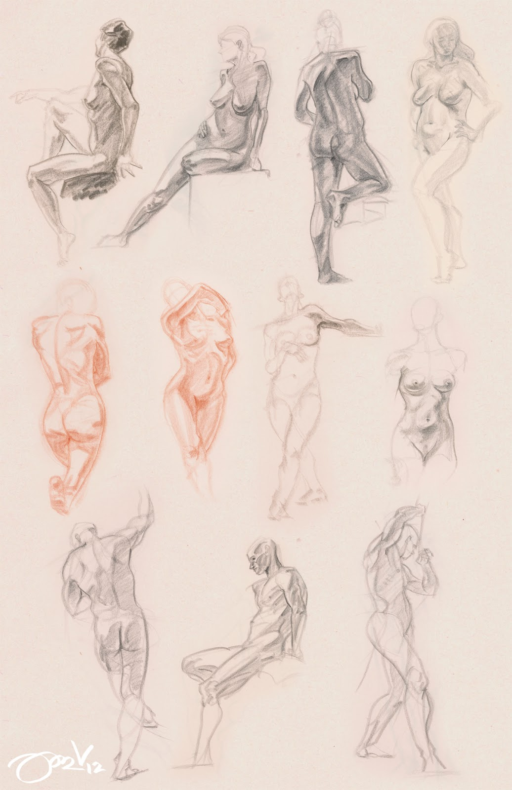 Through Glasses: Figure Drawing