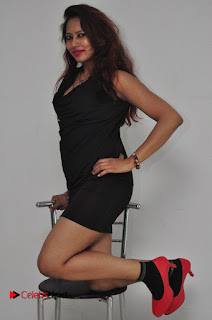 Model Sonia Pictures in Black Dress at Yes Mart Event  0030