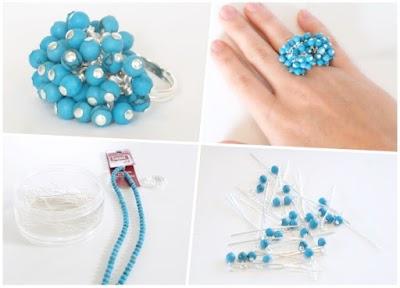 Como hacer anillos racimo o antiestres