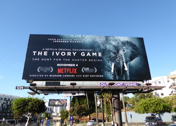 Ivory Game Elephant documentary billboard