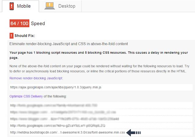 Google Page speed inside