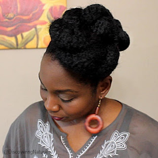 Quick Twisted Marley Updo Natural Hair Protective Style | Wedding, Prom Hairstyle DiscoveringNatural