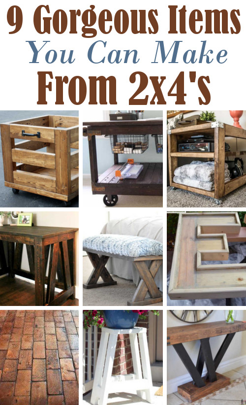 Diy home sweet home 9 amazing projects using 2x4 39 s for Cool things to build with 2x4s