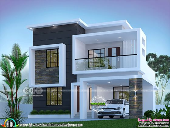 3 bedroom 1800 sq.ft modern home design