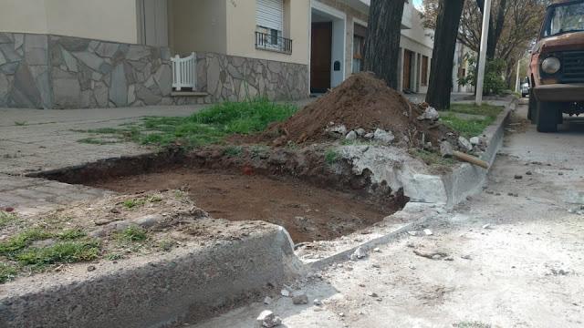La municipalidad de Pehuajó trabaja en la construcción de rampas de acceso en calles de la ciudad