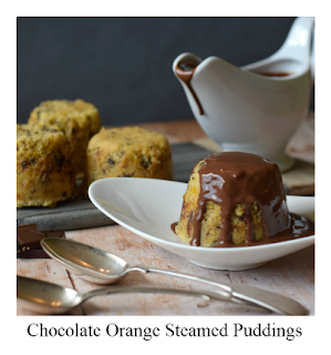 These mini Chocolate Orange Steamed Puddings are the perfect dessert for the colder months!  They're light yet comforting, and are packed with flecks of real chocolate and orange zest.  They're easy to make and are delicious served with a simple chocolate sauce!