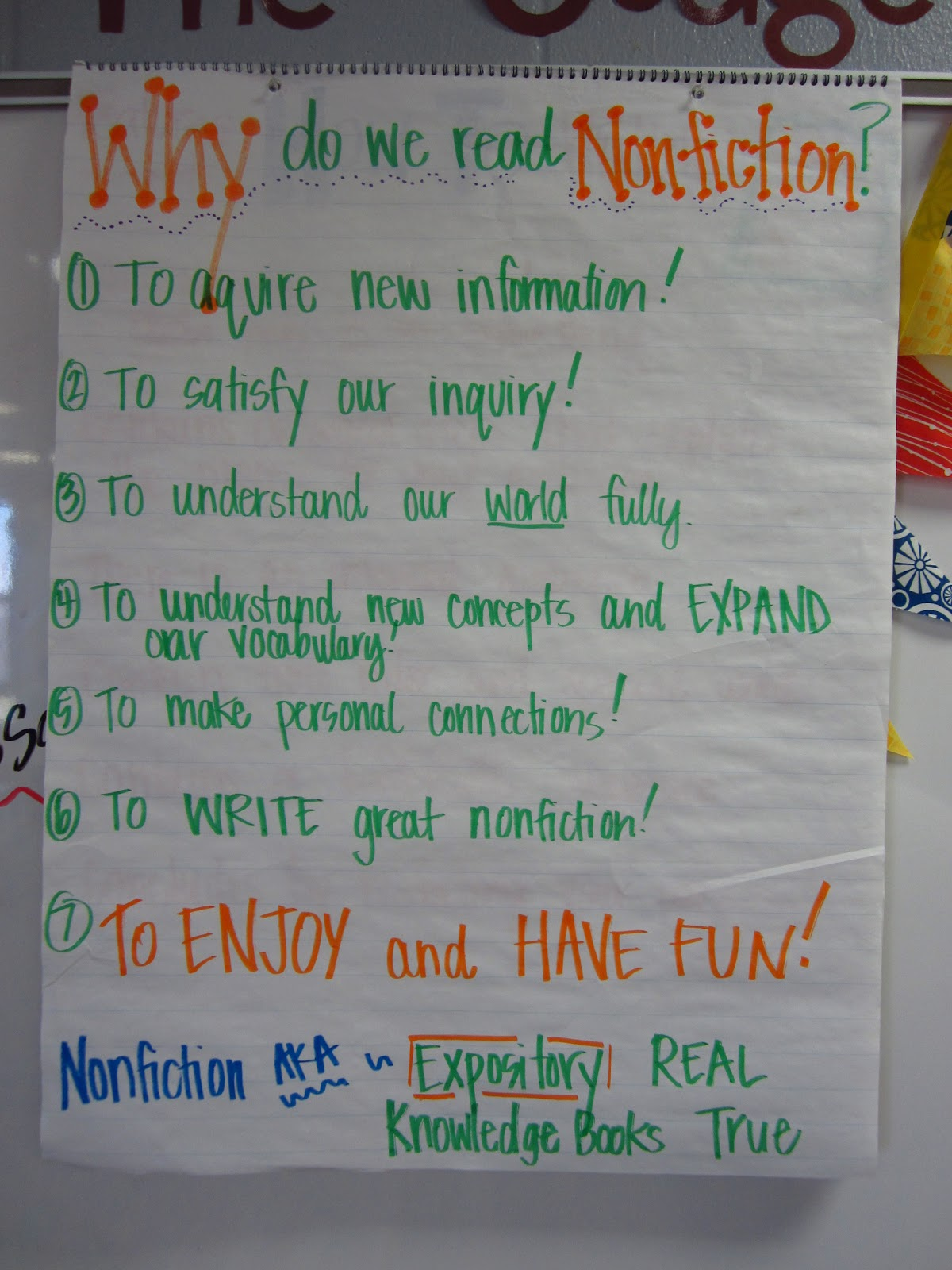 5-Day Unit Plan for Introducing Nonfiction