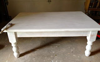 primed coffee table