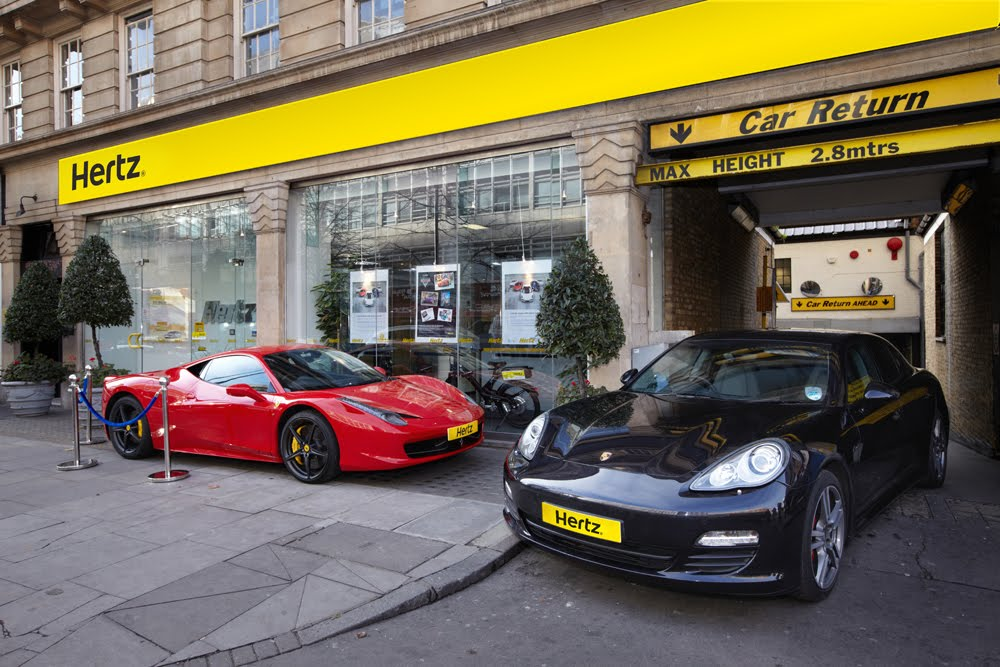 Hertz Exotic Car Rental: HERTZ CUSTOMERS IN UK CAN NOW RENT LEGENDARY SUPERCARS