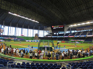 Home to center, Marlins Park