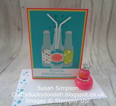 Stampin' Up! UK Independent  Demonstrator Susan Simpson, Craftyduckydoodah!, Bottles & Bubbles, January 2018 Coffee & Cards project, Supplies available 24/7 from my online store,