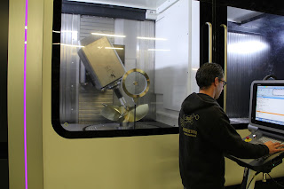 hélice de surface usinée sur machine à commandes numériques