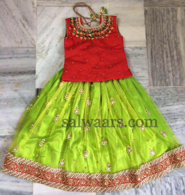 Kids Lehenga in Dual Color
